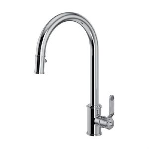4544HT Perrin & Rowe Armstrong Kitchen Single Lever Mixer Tap with Pull Down Rinse - Textured Handle